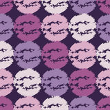 Polka dot sketch lilac seamless pattern. Retro motif. Royalty Free Stock Photos