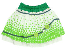 Polka-dot skirt Royalty Free Stock Image