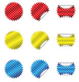 Polka Dot Stickers Stock Photography
