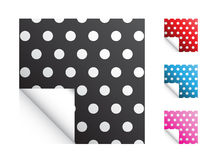 Polka Dot Stickers Stock Images