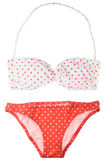 Polka dot swimsuit Royalty Free Stock Photography