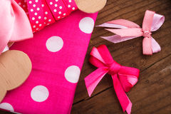 Polka dot textile Stock Photo