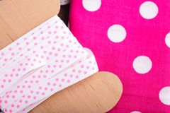 Polka dot textile Royalty Free Stock Image