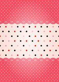 Polka dot texture. Can be used a background Stock Image