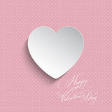 Polka dot Valentines heart background Royalty Free Stock Photos