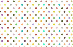 Polka dot with variety color pastel background Royalty Free Stock Photography