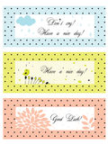 Polka dot vintage banners royalty free illustration