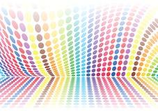 Polka dot wave Royalty Free Stock Photos