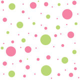 Polka dots. Cute colorful polka dots seamless pattern Royalty Free Stock Photos
