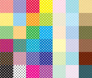 Polka Dots. A  collection of Polka Dots swatches that are each a seamless tile to be used separately as wallpaper, background, fabric, or a design element Royalty Free Stock Photo