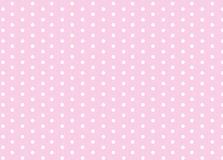 Polka dots. Pink background with polka dots for design wrap or wallpaper Royalty Free Stock Images
