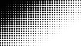 Polka dots abstract pattern comic Pop-art halftone black and white color background. stock illustration