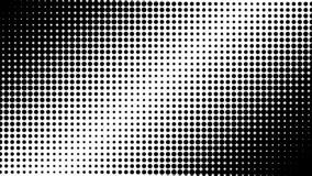 Polka dots abstract pattern comic Pop-art halftone black and white color background. royalty free illustration