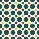 Polka Dots Background. Seamless Polka Dots background pattern in bright colors Royalty Free Stock Photos