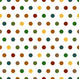 Polka Dots Background. Seamless Polka Dots background pattern in bright colors Royalty Free Stock Photography