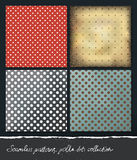 Polka dots backgrounds collection. Royalty Free Stock Photos