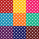 Polka dots backgrounds with white dots and different color backgrounds Royalty Free Stock Photo