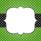 Polka Dots Banner Grunge Frame Royalty Free Stock Photo