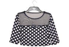Polka dots blouse Royalty Free Stock Photography