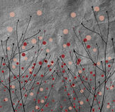 Polka Dots with branches Royalty Free Stock Image
