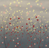 Polka Dots with branches Royalty Free Stock Photos