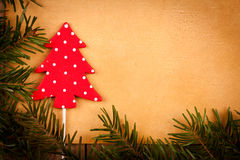 Polka dots Christmas tree Royalty Free Stock Photography