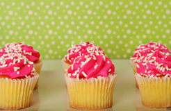 Polka dots and cupcakes Stock Photography