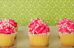 Polka dots and cupcakes stock photography