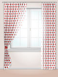 Polka dots curtains Stock Photography