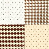 Polka dots and dogtooth pattern Stock Photo