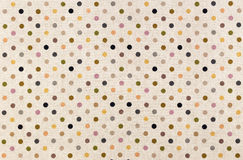 Polka dots. Polka dot canvas fabric pattern background and texture Stock Images