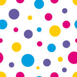 Polka Dots. Polka Dot Seamless colorful background Stock Images