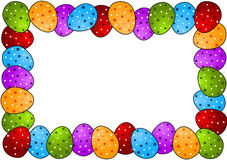 Polka Dots Easter Egg Frame Royalty Free Stock Photos