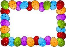Polka Dots Easter Egg Frame Royalty Free Stock Photos