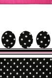 Polka Dots Easter Eggs Fotografia Stock
