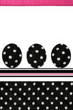 Polka Dots Easter Eggs Stock Photography