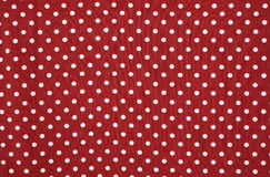 Polka dots fabric Royalty Free Stock Photography