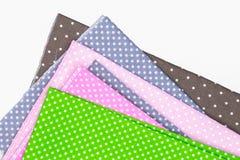 Polka Dots fabric royalty free stock photos