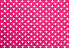 Polka Dots Fabric. Pink Fabric and White Tiny Polka Dots Background Royalty Free Stock Images