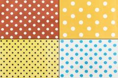 Polka Dots farbic Stock Image