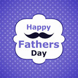 Polka Dots fathers day wiskers card Royalty Free Stock Photos