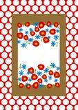 Polka dots and flowers invitation card Stock Photos
