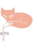 Polka dots fox illustration Stock Photography
