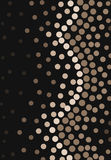 Polka Dots Gradient. Different shades of brown background Stock Image