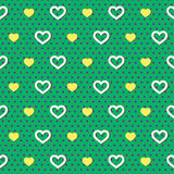 Polka Dots Hearts Pattern Stock Photography