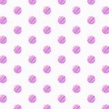 Polka Dots Lilac Pattern Arkivfoton