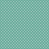 Polka dots. On mint green background Royalty Free Stock Image