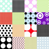 Polka dots pattern. Colorful polka dots pattern  background collection Royalty Free Stock Images