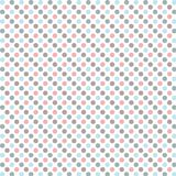Polka dots pattern. Aged and worn paper with polka dots. Vector art Stock Image