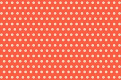 Polka dots. Pattern on red background stock photo